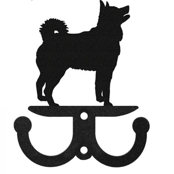 Ijslandse Hond Riemhangersleutelrek 2 Haken Van Metaal Ijslandse Hond