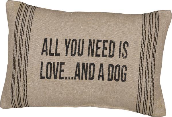Algemeen leuk voor alle hondenbaasjes kussen met tekst langwerpig