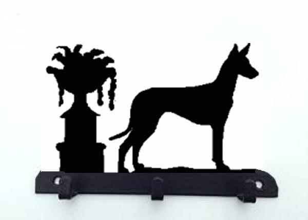 Pharao Hond Riemhangersleutelrek 3 Haken Van Metaal Pharao Hond